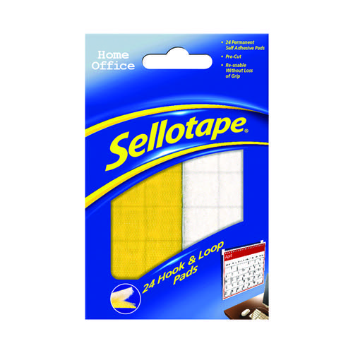Sellotape Sticky Hook and Loop Pads (Pack of 24) SE4542