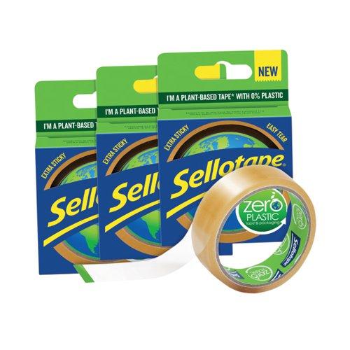 Sellotape Zero Plastic 24mm x 30m 3 For 2 by Henkel, TAP1276