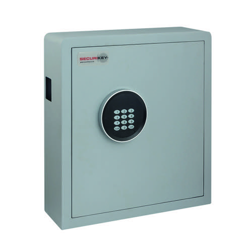 Securikey Electronic Key Safe 70 Key Cabinet Grey KZ070-ZE