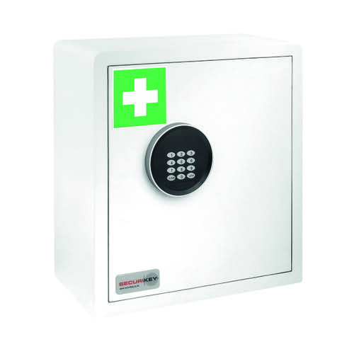 Securikey Electronic Medical Cabinet 180D Small White KFAK-MC180D-ZE