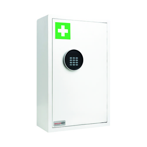 Securikey Electronic Medical Cabinet 200D Medium White KFAK-MC200D-ZE