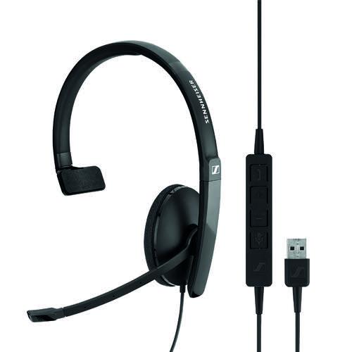 Sennheiser SC130 USB Monaural Headset Black 508314 | SEN18007 | Sennheiser Electronic GmbH