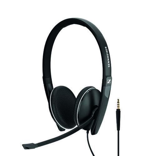 Sennheiser SC165 3.5mm Binaural Headset Black 508319