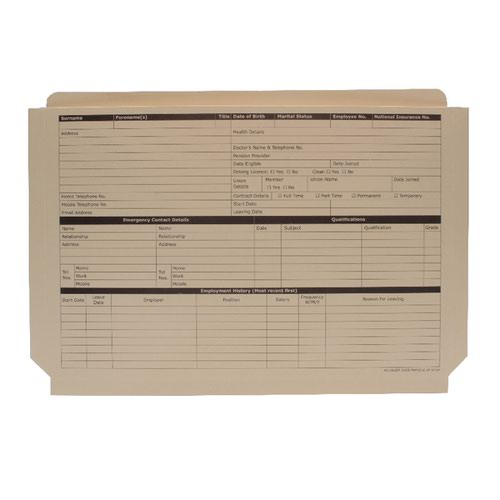 Custom Forms Expanding Personnel Wallet Buff (Pack of 50) PWY02