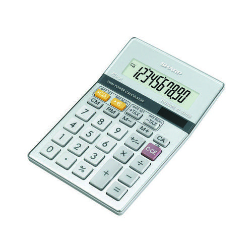 Sharp Silver 10-Digit Semi-Desktop Calculator EL-331ER