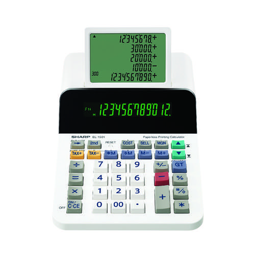 Sharp EL1501 Paperless Printing Calculator EL1501