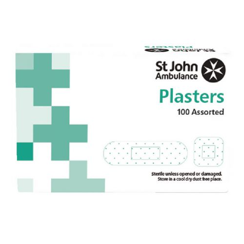 St John Ambulance Detectable Plasters Blue Assorted Sizes (Pack of 100) F94024