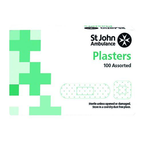 St John Ambulance Fabric Plasters Assorted Sizes (Pack of 100) F94026