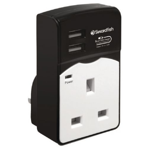 Swordfish VariSocket Dual USB Charger 40268