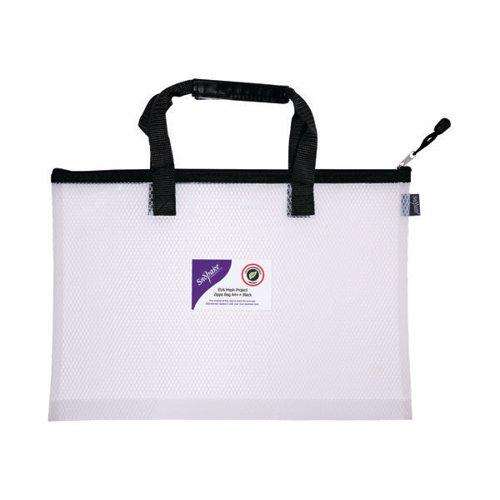 Snopake EVA Mesh High Capacity Project Zippa Bag A4 405x280mm Black 15870