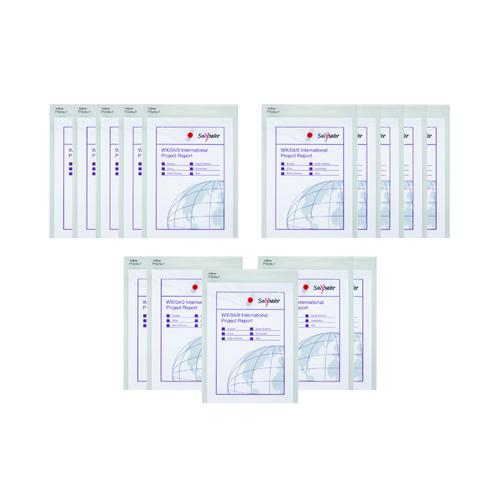 Snopake Polyfile P A4 Portrait Wallet Clear (3 Packs of 5) SK812386