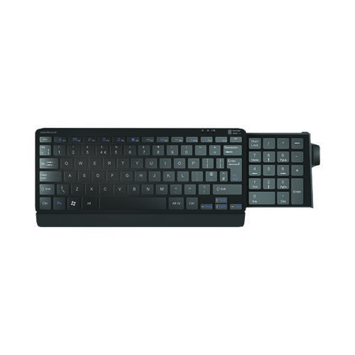 Silver Seal Number Slide Compact Keyboard Wired USB Black 9820010