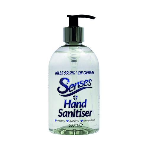 Senses Non-Alcohol Hand Sanitiser Gel 500ml SENSES500
