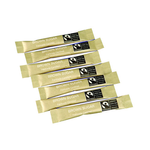 Fairtrade Brown Sugar Sticks (Pack of 1000) SJ957