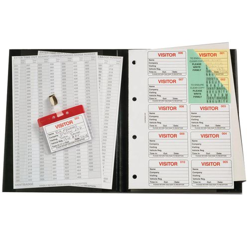 Identibadge Complete Visitors Book 300 Insert IBVBSYS300