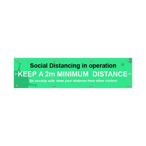 Social Distancing in Operation BAN 2000x500mm STP150