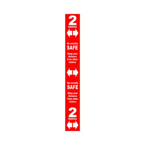 Floor Distance Marker SAV LAM Red 800x100mm STP175