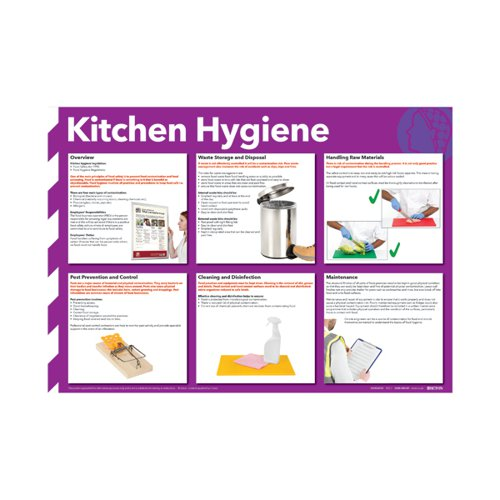 Kitchen Hygiene Poster 420x594mm FA607 Health & Safety Posters SR11129