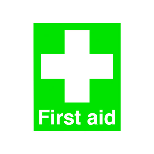 Safety Sign First Aid 100x250mm PVC FA00607R First Aid Signs SR11146