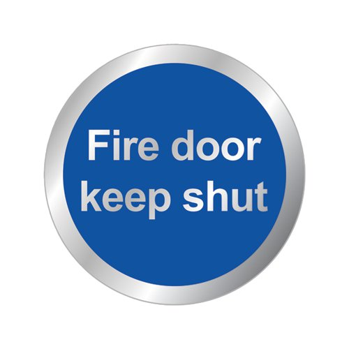Safety Sign Fire Door Keep Shut 76mm RDS15