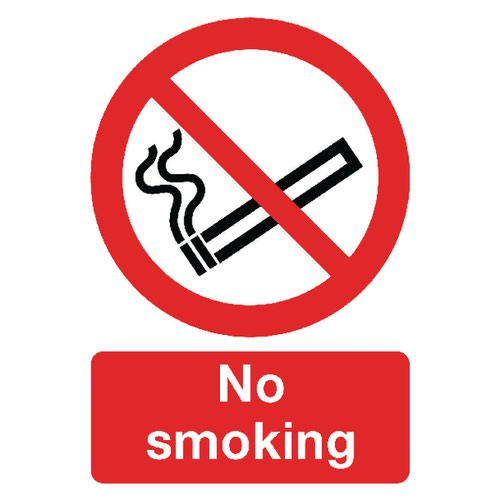 Safety Sign No Smoking A4 Self-Adhesive (Conforms to BS EN ISO 7010) ML02079S