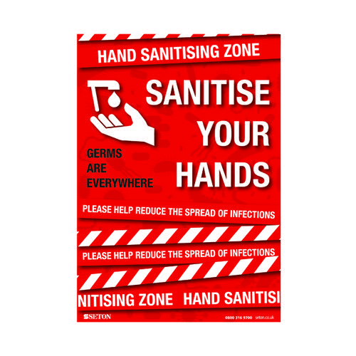 Sanitise Your Hands S/A Vinyl A3 FA064A3SAV