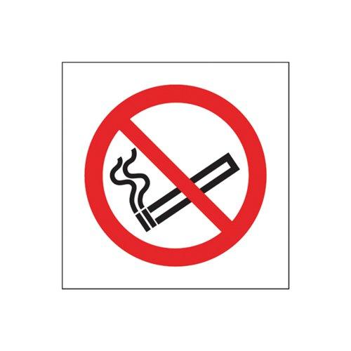 Safety Sign No Smoking Symbol 100x100mm Self-Adhesive (Pack of 5) KP01N/S