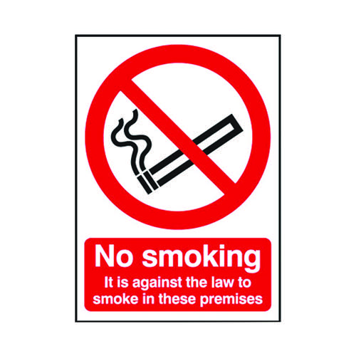 Safety Sign 210x148mm No Smoking PVC SR72079