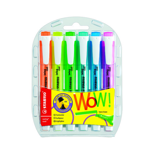 Stabilo Swing Cool Highlighter Assorted (Pack of 6) 275/6-3