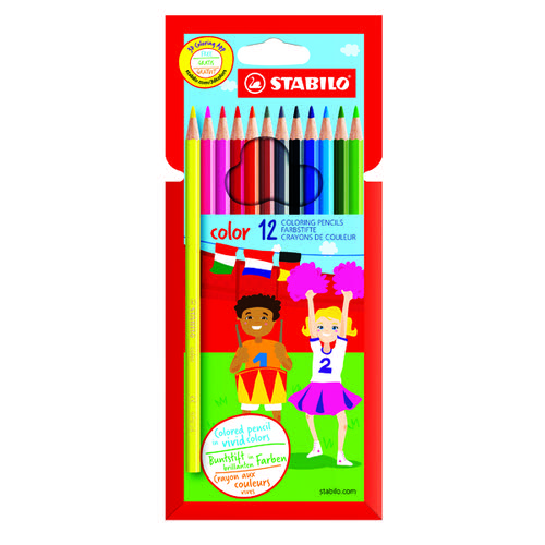 Stabilo Color 12 Premium Colouring Pencils with Hexagonal Barrel Assorted (Pack of 6) 1912/77-01