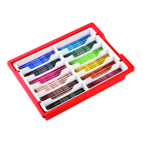 Stabilo Trio Thick Colouring Pencils Triangular Shaped Assorted Classpack (Pack of 96) 203/96