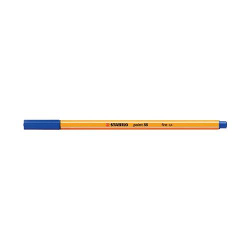 Stabilo Point 88 Fineliner Pen Blue (Pack of 10) 88/41