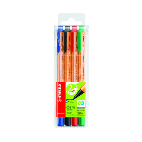 Stabilo GREENpoint Sign Pen Assorted (Pack of 4) 6088/4
