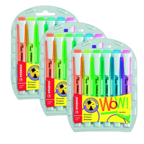 Stabilo Swing Cool Highlighters Assorted (Pack of 6) 3 for 2 SS811683