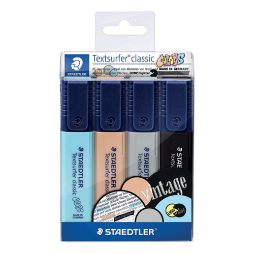 Staedtler Textsurfer Classic Highlighters (Pack of 4) 364 CWP4