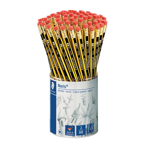 Noris HB Eraser Tip Pencils (Pack of 72) 122KP72