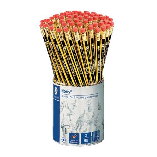 Noris HB Eraser Tip Pencils (Pack of 72) 122KP72