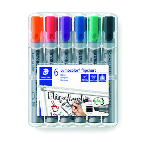 Staedtler Flipchart Marker Assorted (Pack of 6) 356Wp6