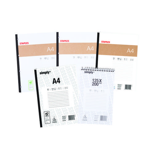 Staples Notebook Bundle Assorted (Pack of 5) STA810001