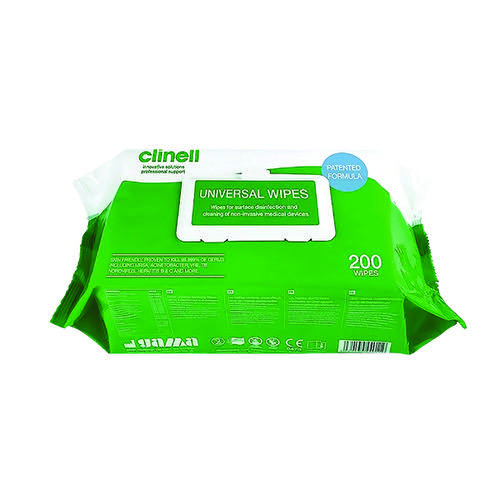 Clinell Universal Sanitising Wipes 200 Sheets (Pack of 6) GCW200