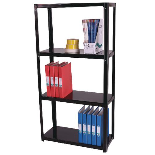 Zamba Light Duty Boltless 4-Shelf Unit Black ZZLS4BK140B07030