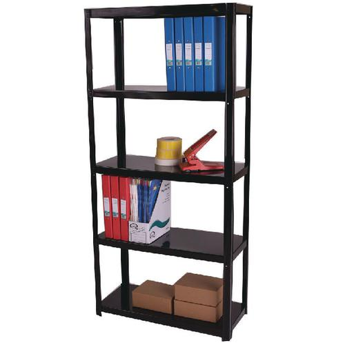 Zamba Light Duty Boltless 5-Shelf Unit Black ZZLS5BK150B07030