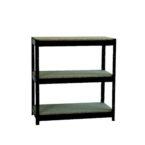 Zamba Heavy Duty Boltless 3-Shelf Unit Black ZZHT3BK094A09545