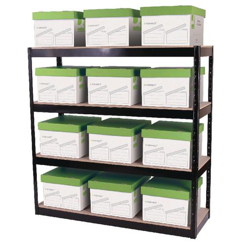 Zamba Boltless 4-Shelf Unit Black STS56037