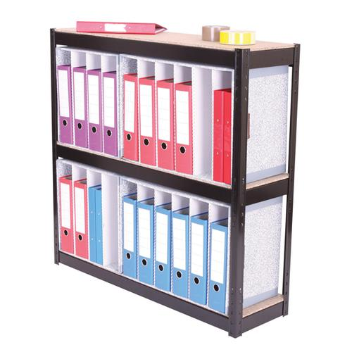 Zamba 3-Shelf Lever Arch File Unit Black ZZHT3BK102A10630