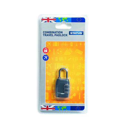 Status Three-Digit Combination Travel Padlock (Pack of 5) SCPLOCK1PK5