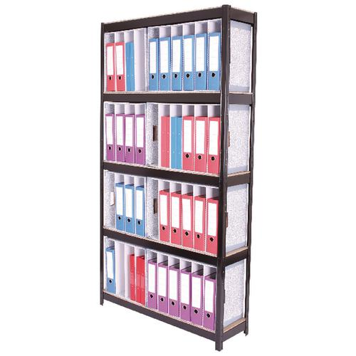 Zamba Boltless 5-Shelf Lever Arch File Unit Black STS834450