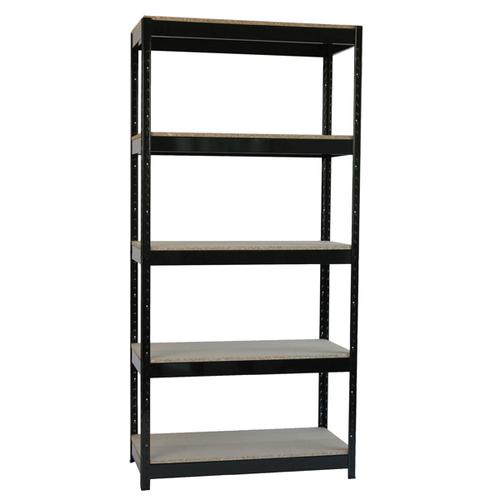 Zamba Heavy Duty Boltless 5-Shelf Unit Black STS834550