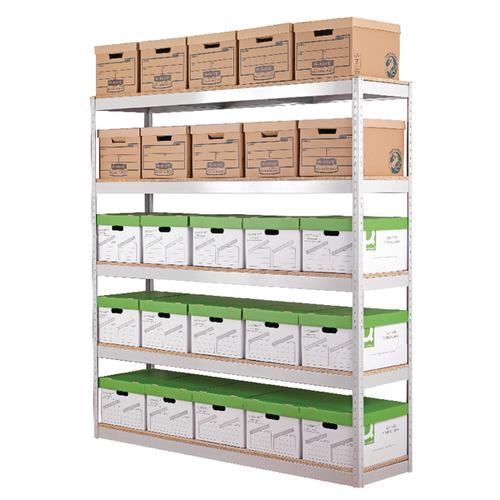 Zamba Stock Archiving Shelving W1500mm Grey STS834556
