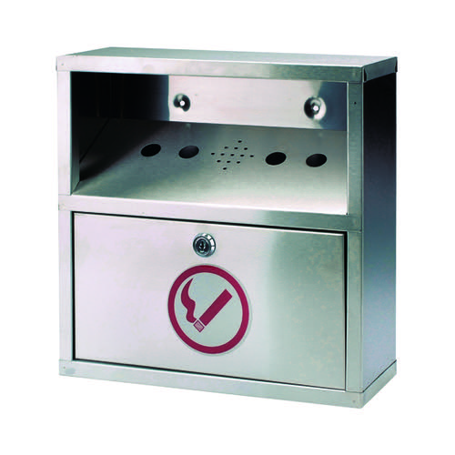 Sterling Wall Mounted Ash Bin Steel 5.5 Litre CIGBINSQ